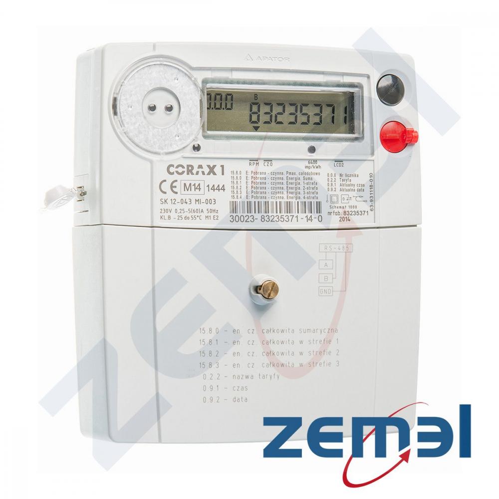 Świeże Licznik elektroniczny 1fazowy 5/60A, 230V - wzorcowany - Corax 1 GS59